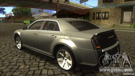 Chrysler 300 SRT-8 2011 V1.0 for GTA San Andreas back left view