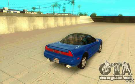 Honda NSX 1991 stock for GTA San Andreas back left view