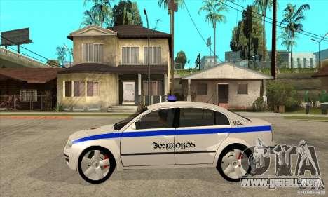 Skoda SuperB GEO Police for GTA San Andreas left view