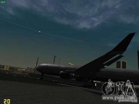 Boeing 767-400ER Delta Airlines for GTA San Andreas inner view