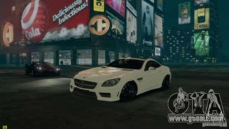Mercedes-Benz SLK55 R172 AMG 2011 v1.0 for GTA 4