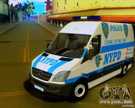 Mercedes Benz Sprinter NYPD police for GTA San Andreas