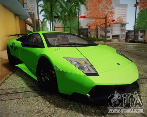 Lamborghini Murcielago LP 670/4 SV Fixed Version for GTA San Andreas side view