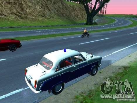Moskvitch 403 with Police for GTA San Andreas back left view
