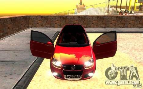 VolksWagen Golf GTI MK5 for GTA San Andreas upper view