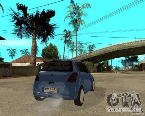 2007 Suzuki Swift for GTA San Andreas back left view