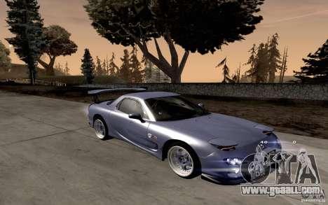Mazda RX-7 Hellalush for GTA San Andreas left view