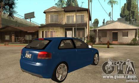 Audi S3 2007 - Stock for GTA San Andreas right view
