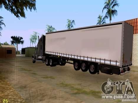 Freightliner Coronado for GTA San Andreas back view