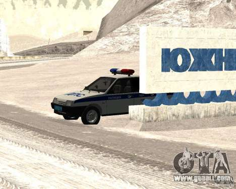 VAZ 2109 DPS for GTA San Andreas back left view