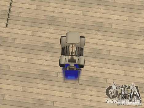 Forklift extreem v2 for GTA San Andreas back view