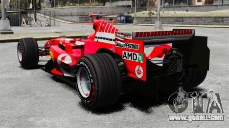 Ferrari F2005 for GTA 4 back left view