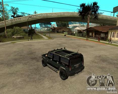FBI Hummer H2 for GTA San Andreas right view
