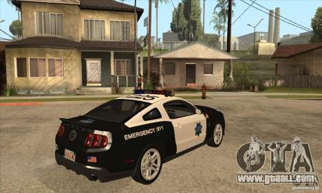Shelby GT500 2010 Police for GTA San Andreas right view