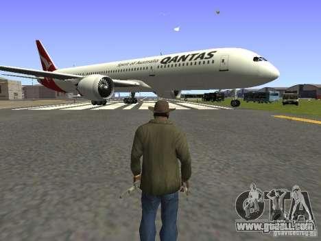 Boeing 787 Dreamliner Qantas for GTA San Andreas