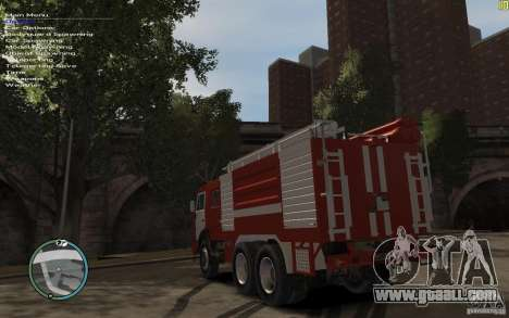 Kamaz FIREFIGHTER for GTA 4 right view