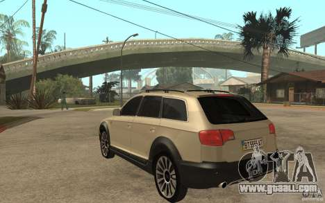 Audi Allroad Quattro for GTA San Andreas back left view