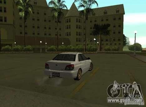 Subaru Impreza WRX STI-Street Racing for GTA San Andreas right view