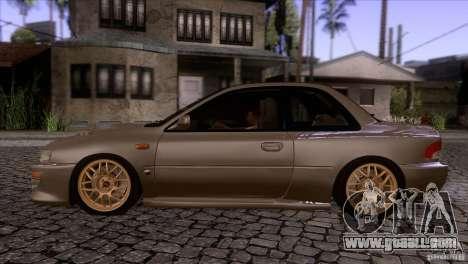 Subaru Impreza 22 for GTA San Andreas left view