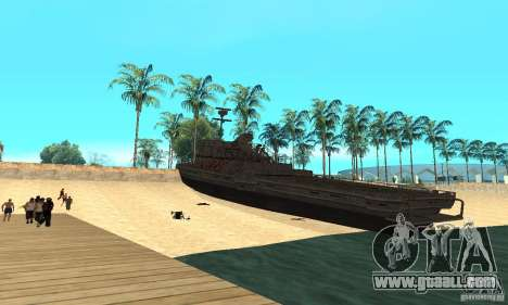 Boat for GTA San Andreas back left view