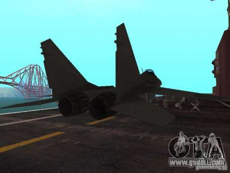 MIG-29 of the COD MW2 for GTA San Andreas back left view