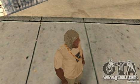 Long blonde hair for GTA San Andreas third screenshot