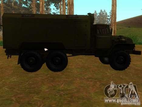 Ural 4320 Kung for GTA San Andreas back view