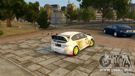 Subaru Impreza WRX STI Rallycross DC Gold Vinyl for GTA 4 back view