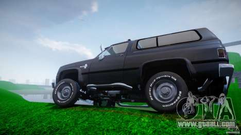 Chevrolet Blazer K5 Stock for GTA 4 wheels