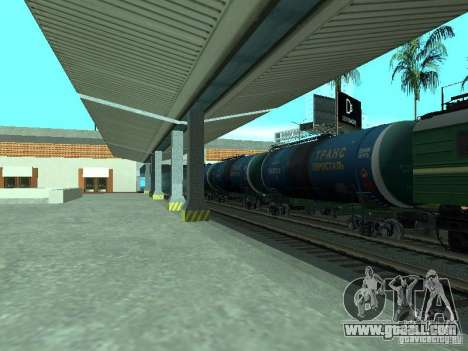 Tank wagon for GTA San Andreas back left view