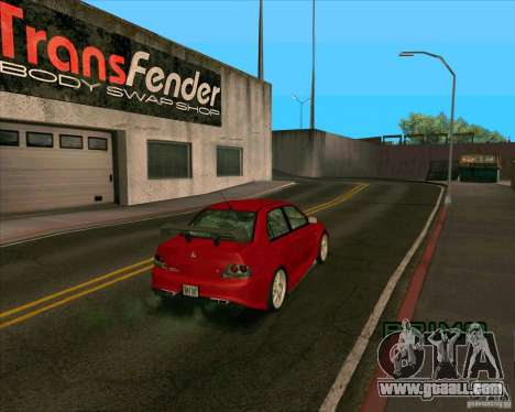 Mitsubishi Lancer Evolution 8 MostWanted for GTA San Andreas back left view
