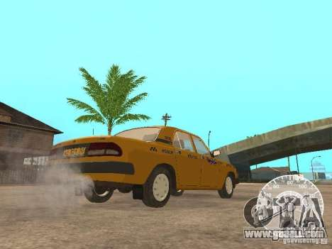 GAZ 3110 Volga taxi for GTA San Andreas back view