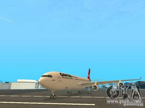 Airbus A340-300 Qantas Airlines for GTA San Andreas left view