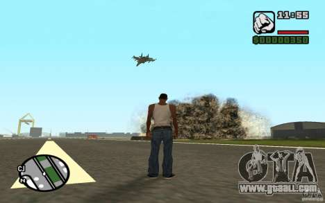 Air support when attacking. for GTA San Andreas third screenshot