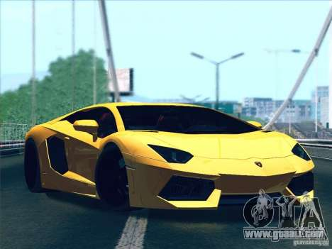 Lamborghini Aventador LP700-4 2011 V1.0 for GTA San Andreas back left view