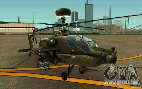Apache AH64D Longbow for GTA San Andreas left view