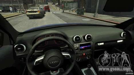 Audi S3 2006 v1.1 tonirovanaâ for GTA 4 inner view