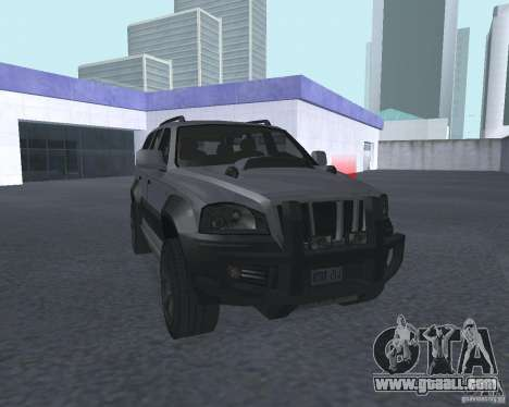 SUV from NFS for GTA San Andreas back view