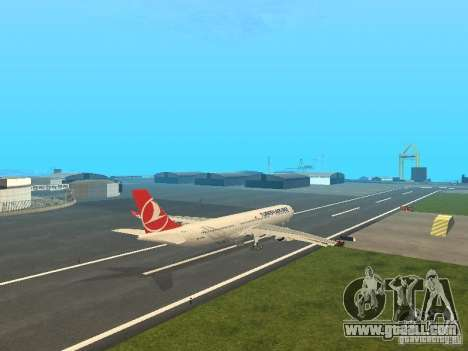 Airbus A330-300 Turkish Airlines for GTA San Andreas right view