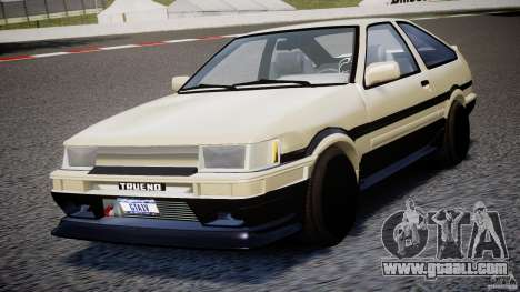 Toyota AE86 TRUENO Initial D for GTA 4