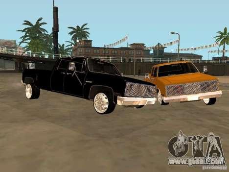 Chevrolet Silverado Lowrider for GTA San Andreas left view
