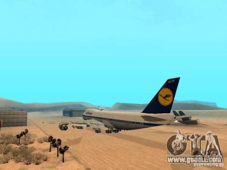 Boeing 747-100 Lufthansa for GTA San Andreas back left view