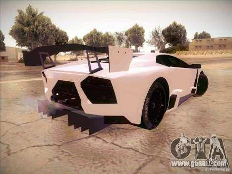 Lamborghini Reventon GT-R for GTA San Andreas back left view