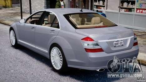 Mercedes-Benz S-Class 2007 for GTA 4 upper view