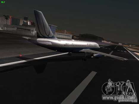 Airbus A319 United Airlines for GTA San Andreas right view