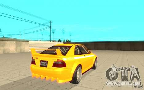 Sultan RS from GTA 4 for GTA San Andreas back left view