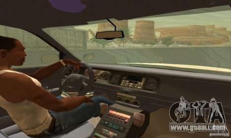 Ford Crown Victoria Utah Police for GTA San Andreas back left view