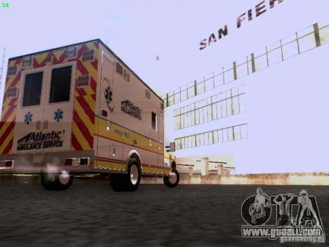 Ford F-350 Ambulance for GTA San Andreas back left view