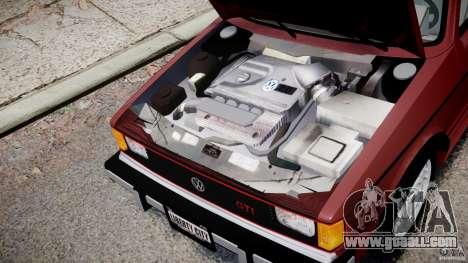 Volkswagen Rabbit 1986 for GTA 4 inner view