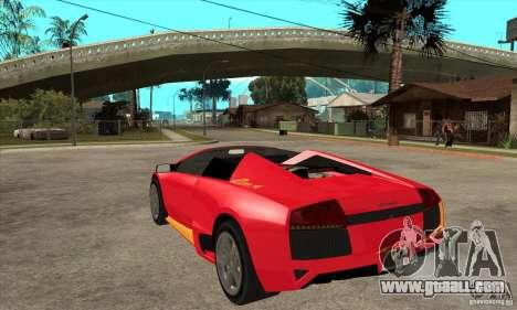 Lamborghini Murcielago LP650 for GTA San Andreas back left view